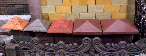 бетонные крышки для забора