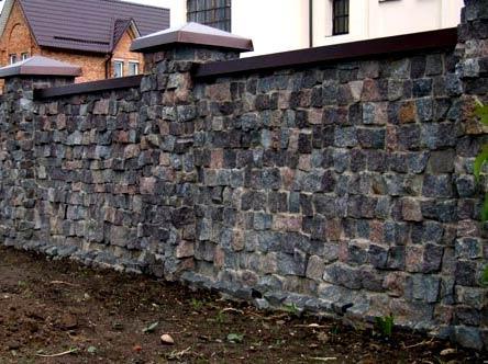Забор из камней своими руками фото 89
