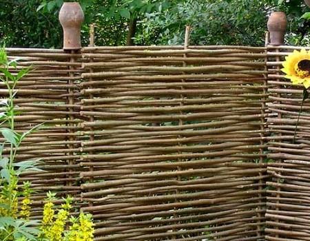 Забор из тына