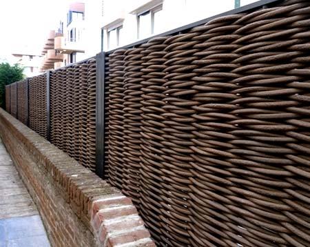 плетенный забор