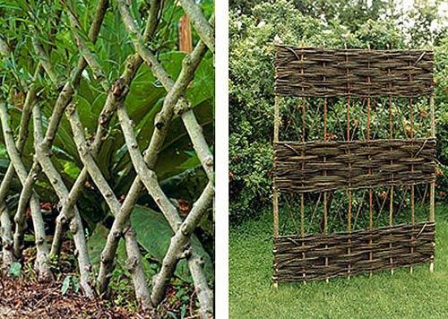 Ограда из зеленой плетенки