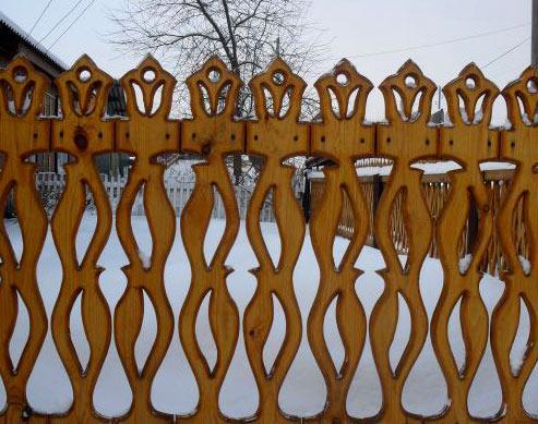 Узоры на забор из штакетника