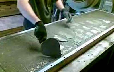 формирование плиты еврозабора