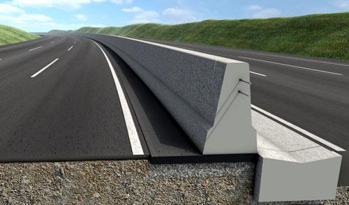 бетонное дорожное ограждение