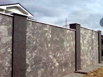 декоративная штукатурка ограды