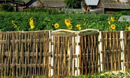 декоративный плетеный забор