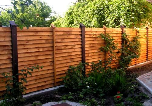 деревянный элитный забор