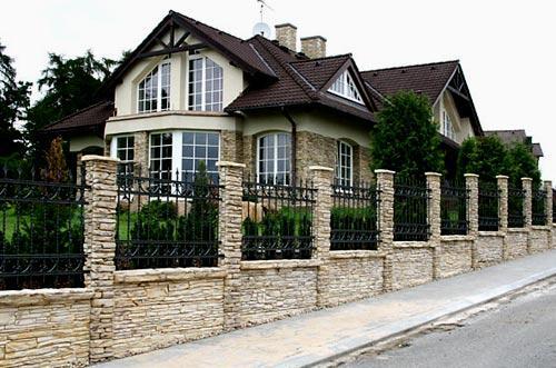 элитный забор из камня