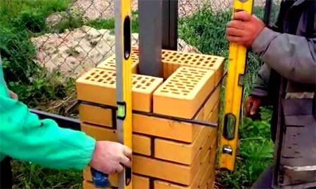 геометрия кирпичного столба