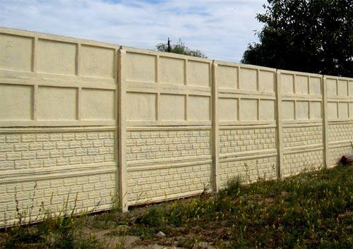 бетонный глухой забор