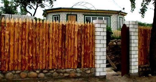 кирпичные столбы для ограды