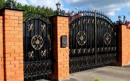 кованые ворота для дома