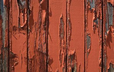 старая краска на заборе