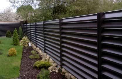 легкий металлический забор жалюзи