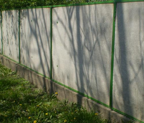 забор плоский шифер
