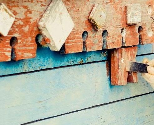 обработка деревянного забора