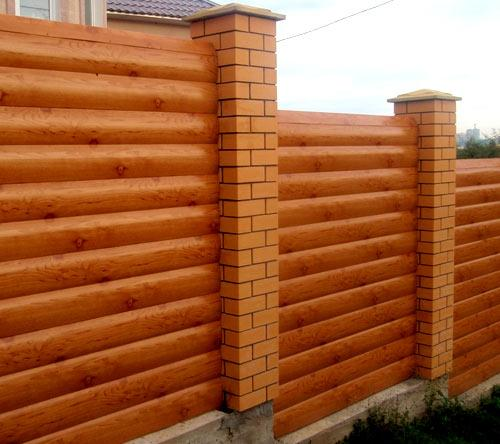 отделка ограды сайдингом