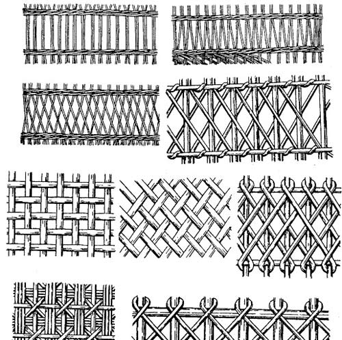 схема плетения ограды