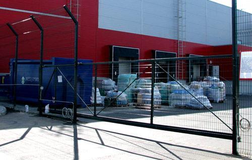 забор на складе