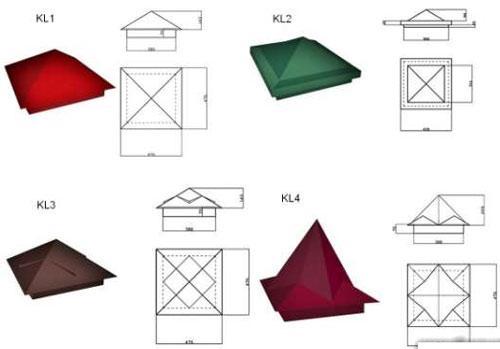 схема колпаков