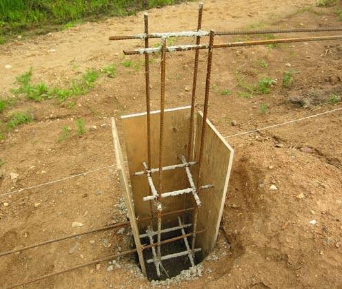 армирование бетонного столба