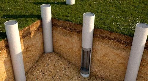 установка асбоцементных столбов