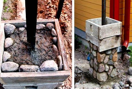 столбы из камня