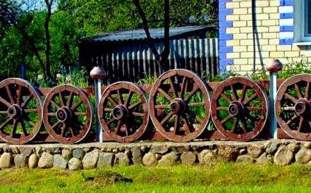 забор из колес