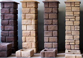 декоративные столбы из бетона