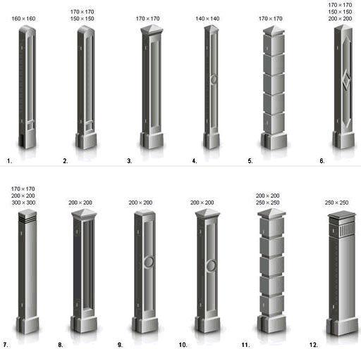бетонные столбы