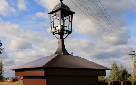 декоративный фонарь для забора