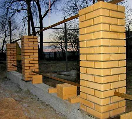 Ограда из кирпича своими руками 3