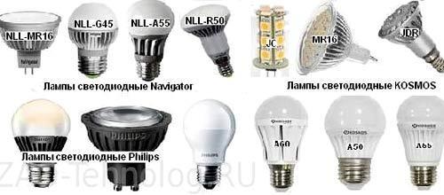 лампы для уличного освещения