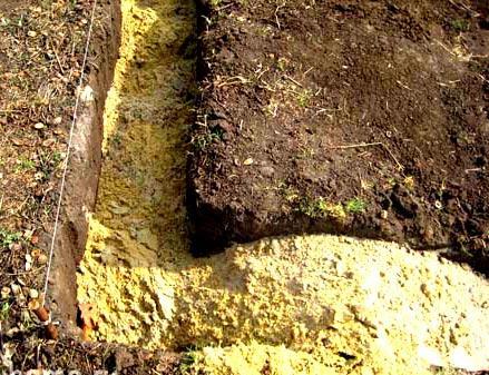 песок на дно фундамента