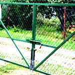 Ворота из сетки рабицы для дачных участков