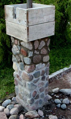 укладка каменного столба