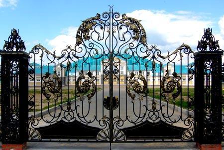 узор на воротах