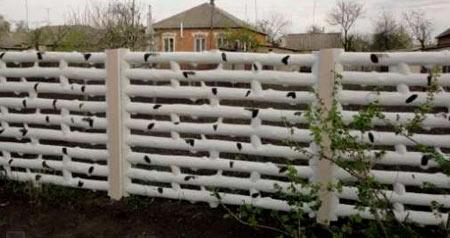 бетонная ограда