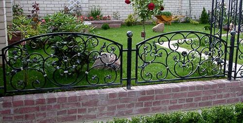 кованый забор для сада