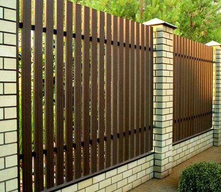 комбинированная ограда дпк