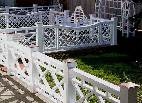 декоративная деревянная ограда