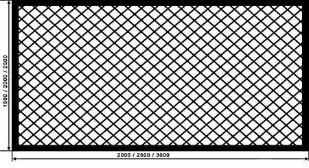 схема забора из сетки
