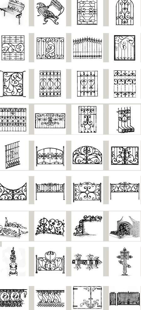 узоры кованый забор