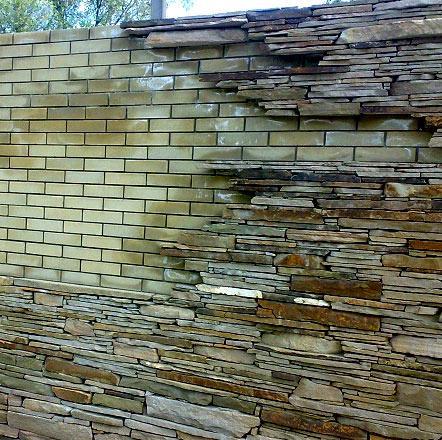 забор искусственный камень