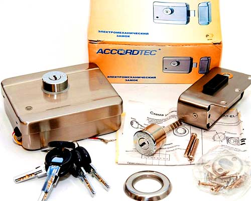 комплект  электромеханического замка