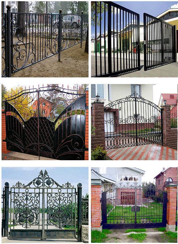 Ворота своими руками для сада 550