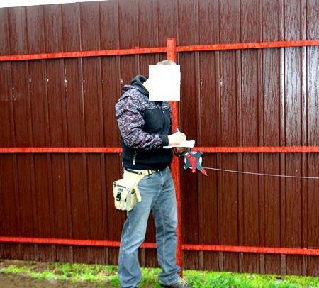 ограда из профлиста