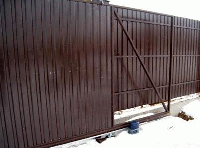 откатные ворота из сайдинга