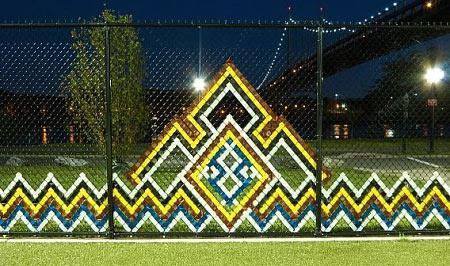 красивый забор сетка рабицы