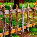 Заборы и изгороди из жердей
